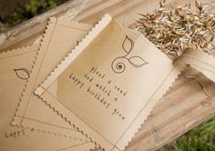 Easy seed package idea - would make a great gift!