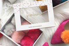 Introducing Pombons shoe accessories: faux fur pom pom shoe clips to create instant pom pom shoes, sandals, boots & more. Clip on some pom pom fun! Christmas Shoes, Holiday Shoes, Christmas Sweaters, How To Stretch Shoes, How To Make Shoes, Rose Gold Shoes, Shoes Too Big, Faux Fur Pom Pom, Wide Shoes