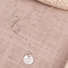 Talisman Jewelry Sideways Infinity Monogram Sterling Silver Necklace $50.00 #thebellacottage #accessories #fashion