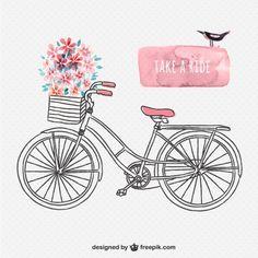 Desenho bicicleta retro                                                                                                                                                     Mais