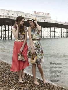 """Oh, We Do Like to be Beside the Seaside!"": A House of Fraser Promotion by the English Seaside by Elisabeth Hoff for Glamour UK"