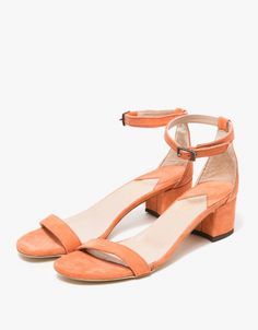 From Brother Veillies, handcrafted leather sandals in a pink Guava. Features minimalist silhouette, rounded open toe, leather toe strap, leather ankle strap with pewter buckle, and a 2-inch block heel.   •Handcrafted leather sandals in a pink Guava •