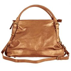 Women's Cross-Body Handbags - Latico Ivy CrossBody SatchelMetallic Copperone size -- Read more reviews of the product by visiting the link on the image.