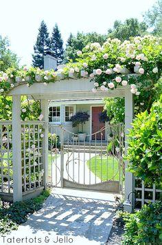 DIY Cottage Garden Trellis Gate And wood Arbor!