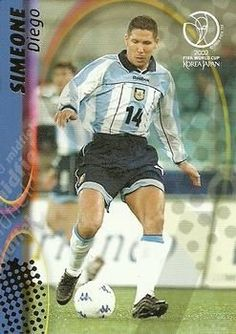 Diego Simone of Argentina. 2002 World Cup Finals card.
