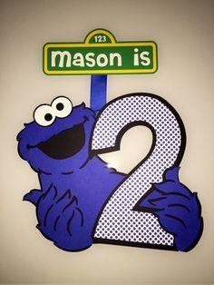 Cookie Monster Sesame Street 2 º cumpleaños