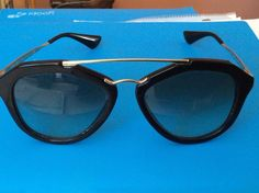 Elegant Prada Modernist Gradient-SPR12Q-1AB0A7-135-Black-Butterfly-Sunglasses #PRADA #Designer