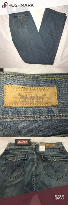 """NWT Levi's 542 Tilted Flare low rise jeans Light wash jeans by Levi's. Low rise with flared legs. Very lightly distressed design on pockets. Low waist: 31"""". Hips: 41"""". Rise: 9"""". Inseam: 32"""". Ankle width: 9"""". Levi's Jeans Flare & Wide Leg"""