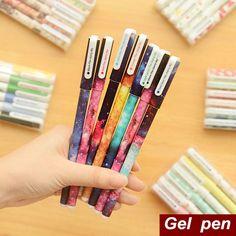10 pcs/set Color Gel pen Kawaii Stationery  $4.23 free shipping