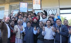 Jammu B J P Celebrating Victory in Gujrat.
