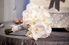 White Orchid Bouquet- bridesmaid? or bridal? pretty either way.
