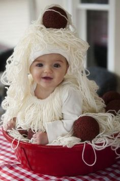 Cute Spaghetti Costume Last Minute Halloween Costumes You Can Make in 3 Days or Less http://wp.me/p4GLBx-Sh