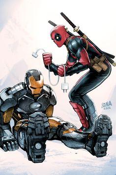 Deadpool con Ironía Man
