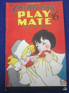 Children's Play Mate Magazine November 1942 Fern Bisel Peat Paper Doll Nellie | eBay
