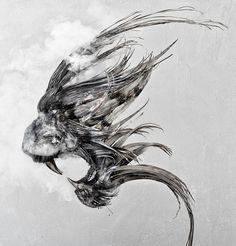 Fantastische Skulpturen von dem türkischen Künstler Selçuk Yilmaz, der tierische Köpfe aus dünnen Stahlsträngen angefertigt hat. Er verwendet dafür sehr dünne Stränge aus gehämmertem und geschweißtem Stahl, so dass jedes einzelne Stück ein geschwungenes Detail des jeweiligen Tieres darstellt. Auf de