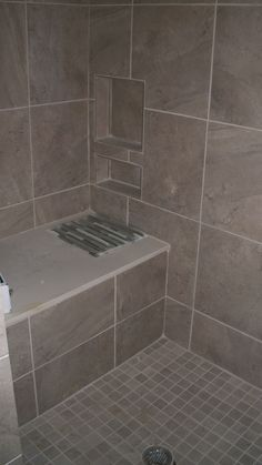 Designeru0027s Challenge  Client Wanted A Crisp Modern Steam Shower But On Budget I Used The Same Tile In Three Sizes Laid Pattern And Then