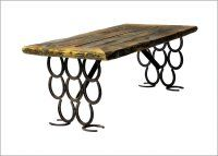Trail Creek Creations - Catalog of Horseshoe Table Products Page