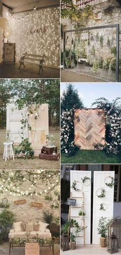 creative wedding photo booth ideas for 2019 trends photos booth 18 Wedding Photo Booth Ideas to Have Fun - EmmaLovesWeddings Rustic Photo Booth, Diy Photo Booth, Photo Booth Backdrop, Outdoor Photo Booths, Backdrop Ideas, Backdrop Design, Wedding Photo Walls, Wedding Photo Albums, Wedding Photos