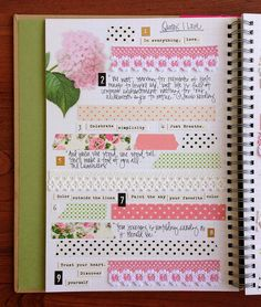 SmashBookPage: quotes and washi tape !