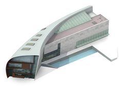 3D - Kiasma Museum of Contemporary Art, Helsinki Finland (1992-98) | Steven Holl