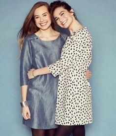 #free #pattern #sewing #patrongratuit #couture #aimecommemarie Robe dans Marie Claire Idées avril 2018