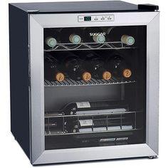 Adega Climatizada Suggar Lyon 13 Garrafas Resfriamento por Compressor -  Inox