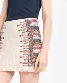 EMBROIDERED SKIRT-View All-SKIRTS-WOMAN | ZARA United States