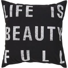 I pinned this Life is Beauty Full Pillow from the Merry Merry Modern event at Joss and Main!
