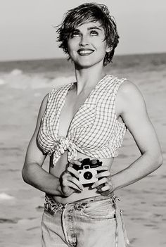 Happy 58th Birthday to MADONNA (with a Kodak Brownie Holiday camera) - shot by Herb Ritts in 1989