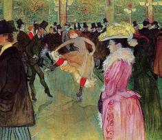 At The Moulin Rouge The Dance 1890 by Henri De Toulouse Lautrec