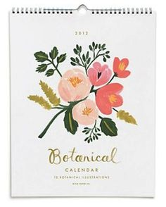 10 pretty handmade 2012 wall calendars