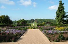 The Rose Garden at Ragley Hall, Warwickshire, #Britain