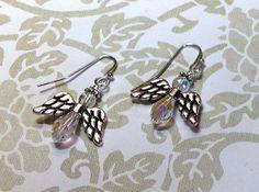 Crystal Angel Earrings Angel Earrings Christmas by JewelryCharmers, $15.00