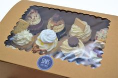 Cupcake collection and delivery from Sian's Little Cakery, Grantham Lincolnshire. Caramac, Jammy Dodgers, Cupcake Collection, Cupcake Boxes, Cupcake Flavors, Reeses Peanut Butter, Cake Makers, Fun Cupcakes, Freshly Baked