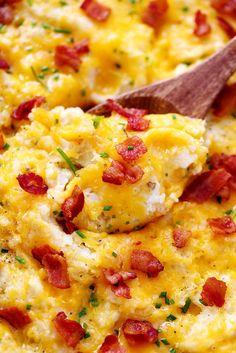 Cheddar Garlic Mashed Potato Casserole 3