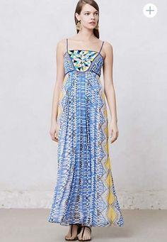 Anthropologie Sunburst Maxi Dress by Ranna Gill  L #AnthropologieSunburstbyRannaGill #Maxi #Casual