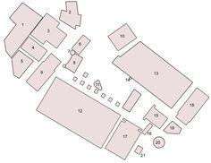2# The Forum Romanum in the Imperial Period 1)Tabularium; 2) Tullianum; 3) Temple of Concord; 4) Temple of Vespasian; 5) Portico Dii Consentes; 6) Arch of Septimius Severus; 7) Umbilicus Urbis; 8) Rostra; 9) Temple of Saturn; 10) Curia Julia; 11) Lacus Curtius; 12) Basilica Julia; 13) Basilica Aemilia; 14) Shrine of Venus Cloacina;  15) Temple of Divus Julius; 16) Arch of Augustus; 17) Temple of the Castors; 18) Temple of Ant0ninus and Faustina; 19) Regia; 20) Temple of Vesta; 21) Fountain…