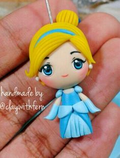 Polymer clay Cinderella by fern