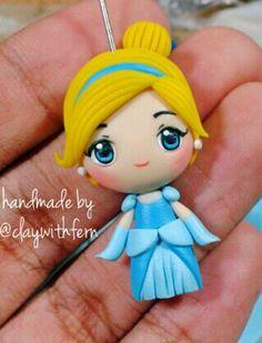 Polymer clay Cinderella by fern