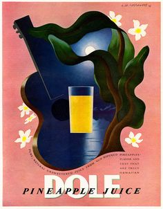 Print ad for Dole Pineapple Juice - 1938 - artist A.M. Cassandre.