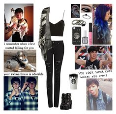 """""""Requested: Adopting A Puppy with Calum"""" by blueknight ❤ liked on Polyvore featuring MANGO, Topshop, Cameo Rose, NARS Cosmetics, Essie, Miss Selfridge and Band of Outsiders"""