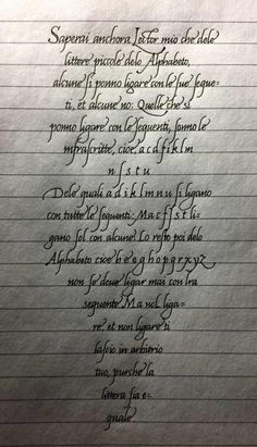 Post with 5487 views. Wrote down a page from Arrighi's La Operina for practice. Caligraphy Alphabet, Handwriting Alphabet, Typography Alphabet, Cursive Handwriting Practice, Penmanship, English Handwriting Styles, Handwriting Examples, Amazing Handwriting, Hand Lettering Tutorial