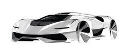 SPARK YA BRAYN industrial design automotive sketch marker car concept design sketch ideation idea