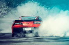 Burnout Chevy Corvette
