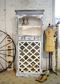 Painted Cottage Chic Shabby  Farmhouse Cabinet by paintedcottages, $525.00