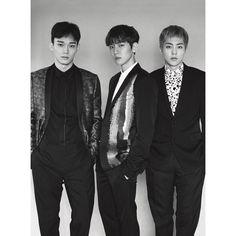 Photo )) Suho, D.O., Kai, Sehun, Chanyeol on The Cover of L'uomo Vogue Chanyeol Baekhyun, Exo Kai, Exo Album, Xiuchen, Kim Jong Dae, Culture Pop, Kim Minseok, Big Bang, Exo Members