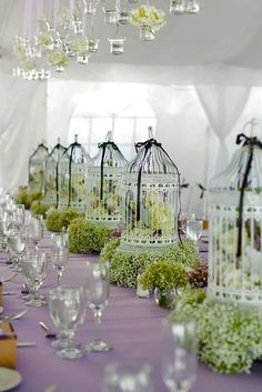 Real weddings dena shane hydrangea centerpieces and wedding 36 stunning non floral wedding centerpieces ideas junglespirit Images