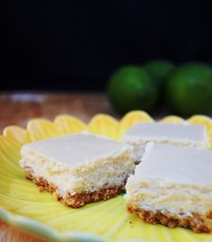 Margarita Cheesecake Bars with a Pretzel and Cookie Crust