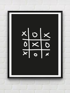 Printable Poster Xo Instant Download Monochrome Print Typography Black White Wall Art Dorm Decor Home Decor Love Print