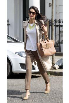 Amal Alamuddin Clooney walking in London
